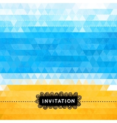 Triangle summer invitation with sea and beach vector image vector image