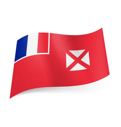 flag of wallis and futuna french flag and white vector image vector image