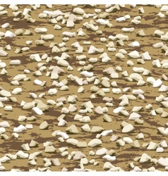 gravel on earth seamless texturewallpaper pattern vector image
