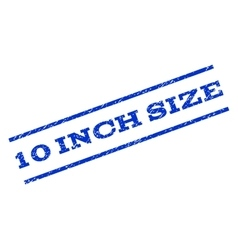 10 Inch Size Watermark Stamp vector
