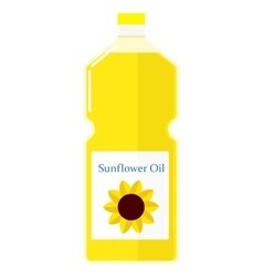a bottle with sunflower oil vector image
