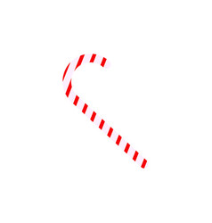 a candy cane of the icons christmas vector image