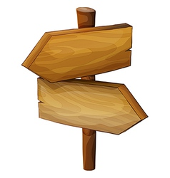 A wooden direction board vector