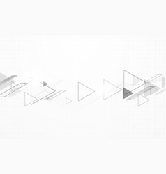 abstract black and white triangles speed motion vector image
