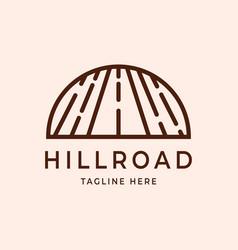 Abstract line art outdoor logo design highway vector