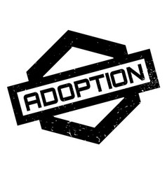 adoption rubber stamp vector image