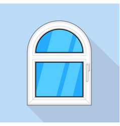 Arched window icon flat style vector
