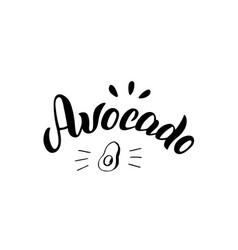 Avocado typography modern logo trendy menu vector
