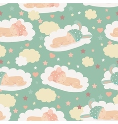 Baby theme seamless pattern vector