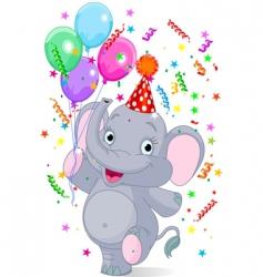 Baelephant birthday vector