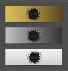 banner design set vector image