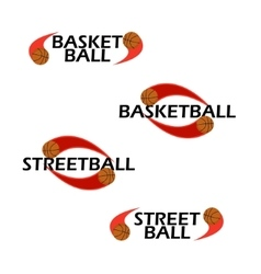 Basketball text for logo the team and the cup vector image