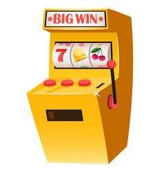 big win slot machine with lucky sevens casino vector image