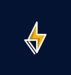 Bolt power emergency icon modern logo vector