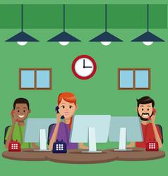 call center customer service vector image
