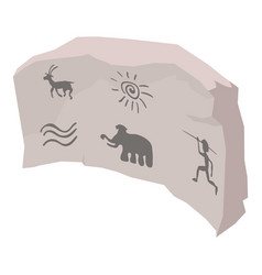 cave painting icon isometric style vector image