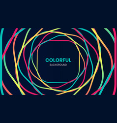 circular colorful abstract background vector image