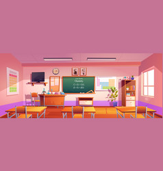 Classroom for chemistry learning vector