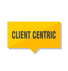 Client centric price tag vector