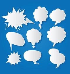Comic bubble speech balloons speech cartoon 210 vector