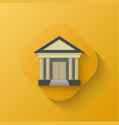 Court house icon vector