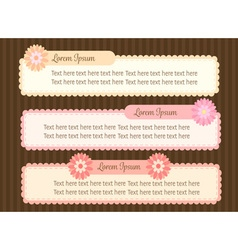 Cute pastel colorful flower text dialog box or vector