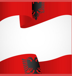 Decoration albania insignia vector