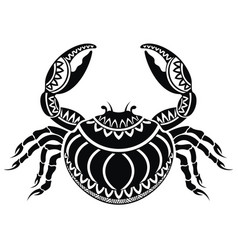 decorative crab vector image vector image