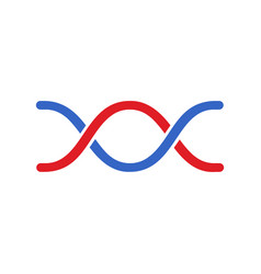 dna icon modern simple flat dna sign isolated vector image