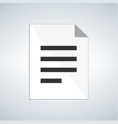 Document icon or simbol isolated on modern vector