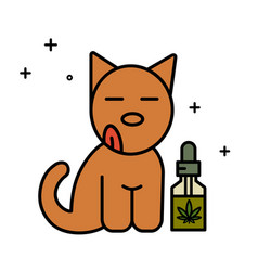 dog and cbd oil vector image