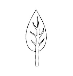 dotted shape natual and ecological tree with vector image