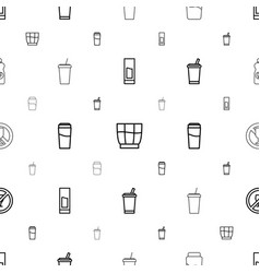 Drinks icons pattern seamless white background vector