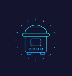 Electric cooker linear icon vector