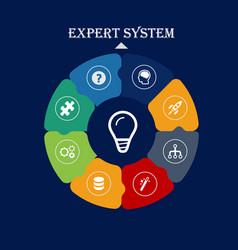 Expert system web design concept dark backgroun vector