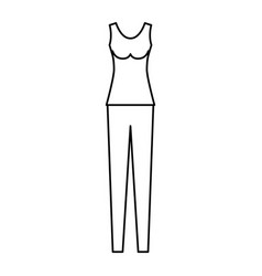Female clothes with pant and t-shirt sleeveless in vector