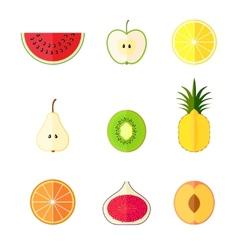 Flat fruits vector