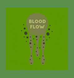 Flat shading style icon blood flow vector