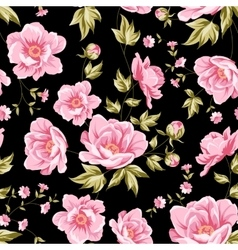 Floral tile pattern vector