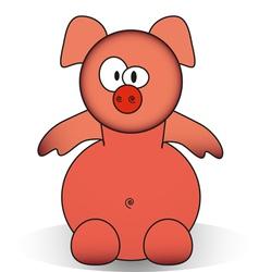 Funny piggy cartoon vector image vector image