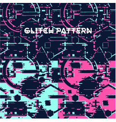 Glitchy seamless pattern abstract texture with vector