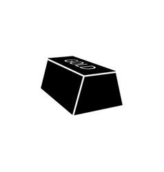 gold bar icon element of casino icon premium vector image