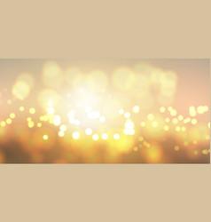 golden bokeh lights banner vector image