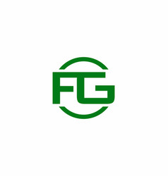 green fg initial letter logo vector image