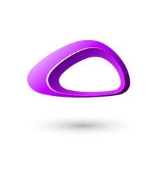 Green triangle logo frame icon design vector