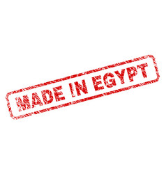 Grunge made in egypt rounded rectangle stamp vector