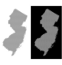 halftone new jersey state map vector image