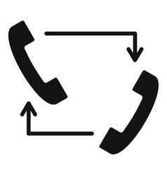 Handsets with arrows icon simple style vector image