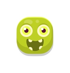 Happy Monster Square Icon vector