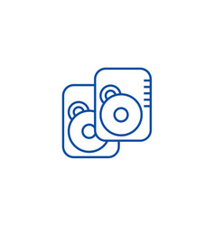 hard disk line icon concept hard disk flat vector image